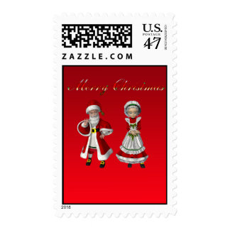 Santa and Mrs Claus Postage