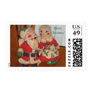 Santa and Mrs. Claus Postage Stamps Stamps