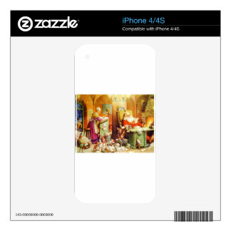 Santa and Mrs Claus Reading Mail at the North Pole Skin For iPhone 4S