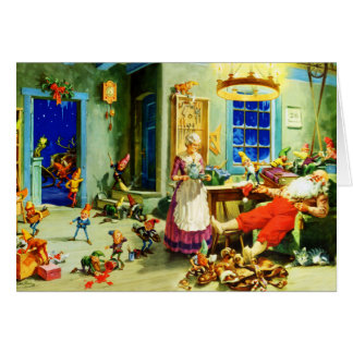Santa and Mrs Claus Relax Christmas Night Greeting Card