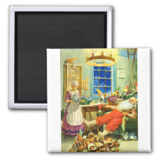 Santa and Mrs. Claus the Day after Christmas. Magnet