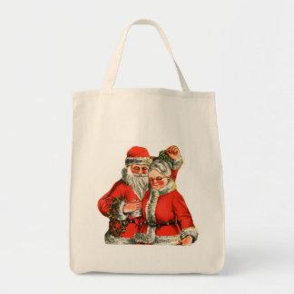 Santa and Mrs Claus Tote Bag