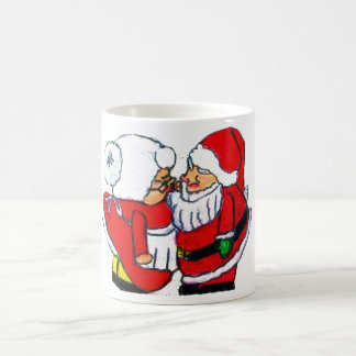 SANTA AND MRS CLAUSE CHRISTMAS KISS mug