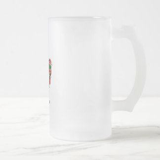 Santa and Pals Frosted Glass Beer Mug