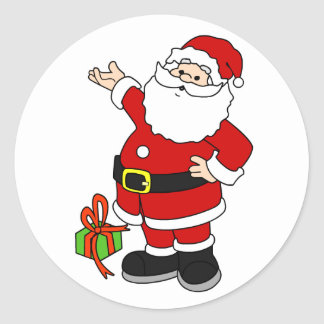 Santa and Present Sticker