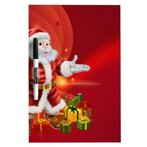 Santa and presents background dry erase board