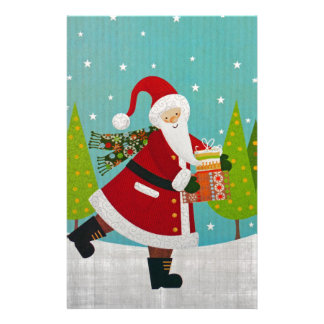 Santa and Presents Stationery