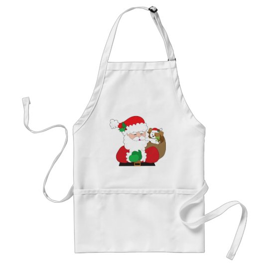 Santa and Puppy Gift Adult Apron