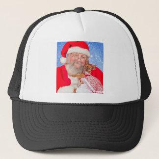 Santa and Puppy Trucker Hat