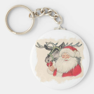 Santa and Raindeer key chain