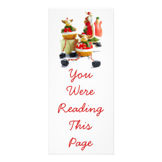 Santa and Reindeer Bookmark Template Rack Card