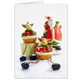 Santa and Reindeer Card Template
