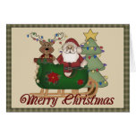 Santa and Reindeer Cards