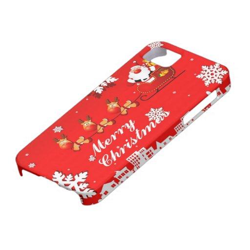 Santa and Reindeer Christmas iPhone 5 Case