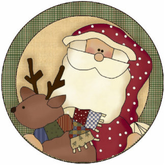 Santa And Reindeer Christmas Tree Ornament