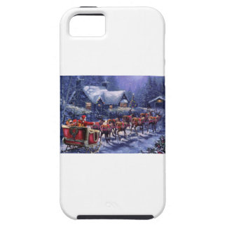 Santa and Reindeer Drop Off Presents iPhone SE/5/5s Case