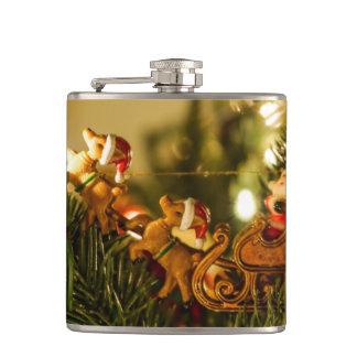Santa And Reindeer Flask