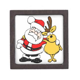 Santa and Reindeer Gift Box Premium Trinket Boxes
