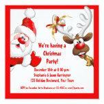 Santa and Reindeer Invite