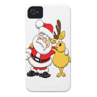 Santa and Reindeer iPhone 4 Case-Mate Case