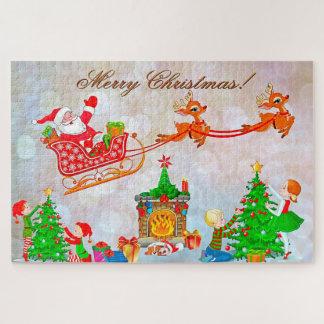 Santa and Reindeer Jigsaw Puzzle