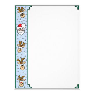 Santa and Reindeer Letterhead