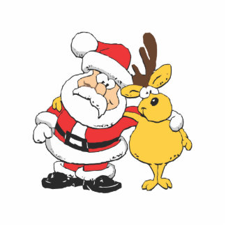 Santa and Reindeer Photo Cut Out