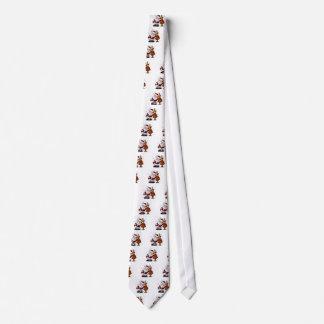 Santa and Reindeer Standing Arm in Arm Tie