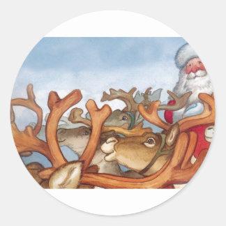 SANTA and Reindeer Stickers