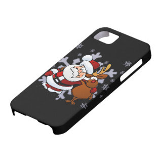 Santa And Reindeers iPhone 5 Cover