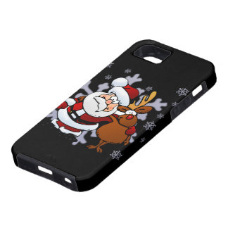 Santa And Reindeers Case For The iPhone 5