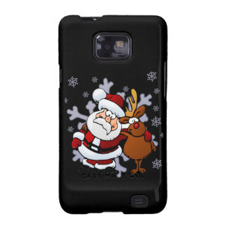 Santa And Reindeers Galaxy S2 Covers