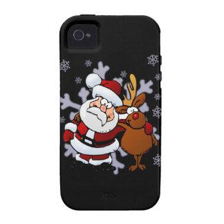 Santa And Reindeers iPhone 4 Case