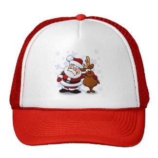 Santa And Reindeers Trucker Hat