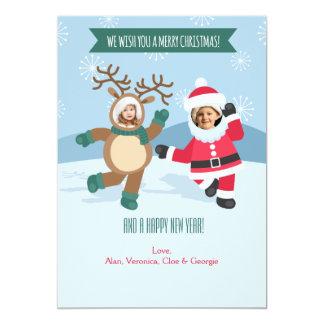 Santa and Rudolf Holiday Photo Card
