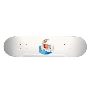 santa and rudolf skate deck
