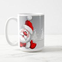 Santa and Rudolph Christmas Mug