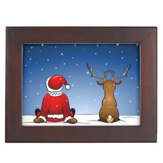 Santa and Rudolph Memory Box