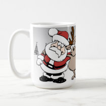 Santa and Rudolph the Red Nosed Reindeer Mug