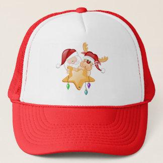 Santa and Rudy Star Trucker Hat