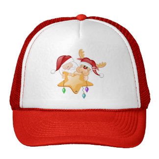 Santa and Rudy Star Trucker Hat