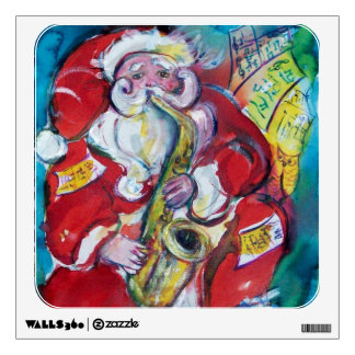 SANTA AND SAX, CHRISTMAS PARTY WALL STICKER