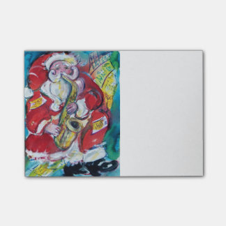 SANTA AND SAX ,Musical Christmas Party Post-it® Notes
