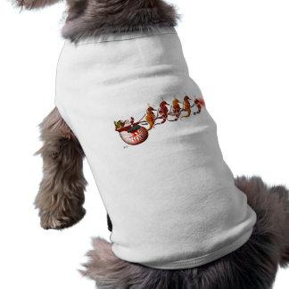 Santa and Seahorse Sleigh Doggie Tee