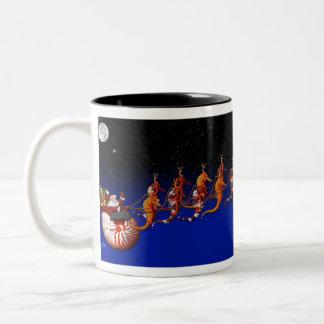 Santa and Seahorse Sleigh Mug #2