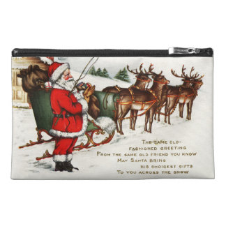 Santa and Sleigh with Reindeer Travel Accessories Bags