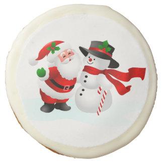 "Santa And Snowman Christmas Cookies - 3.5"""