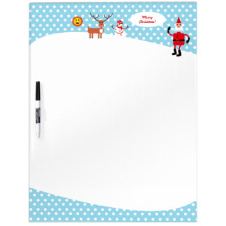 Santa and Snowman in the snow Dry Erase Board