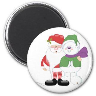 Santa and Snowman Magnet