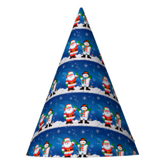 Santa and Snowman Party Hat